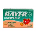 BAYER CHEWABLE ASPIRIN 81mg TABS 36CT